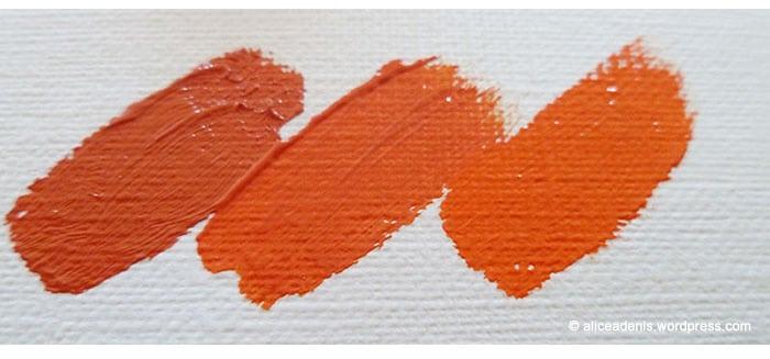 La peinture l 39 huile et ses couleurs amylee for Peinture orange brule