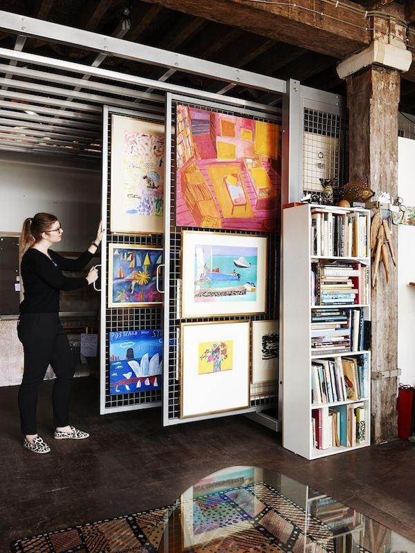 Rangement atelier tableaux idee
