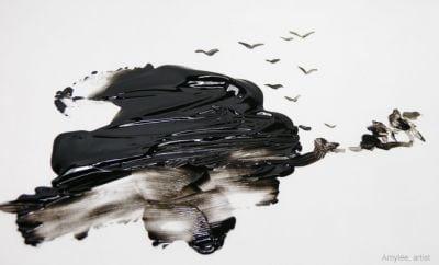 peinture noir artiste tache