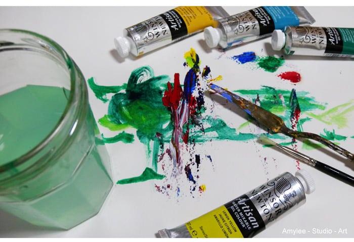 la peinture à l'huile diluable à l'eau | amylee - Avec Quoi Diluer La Peinture A L Huile