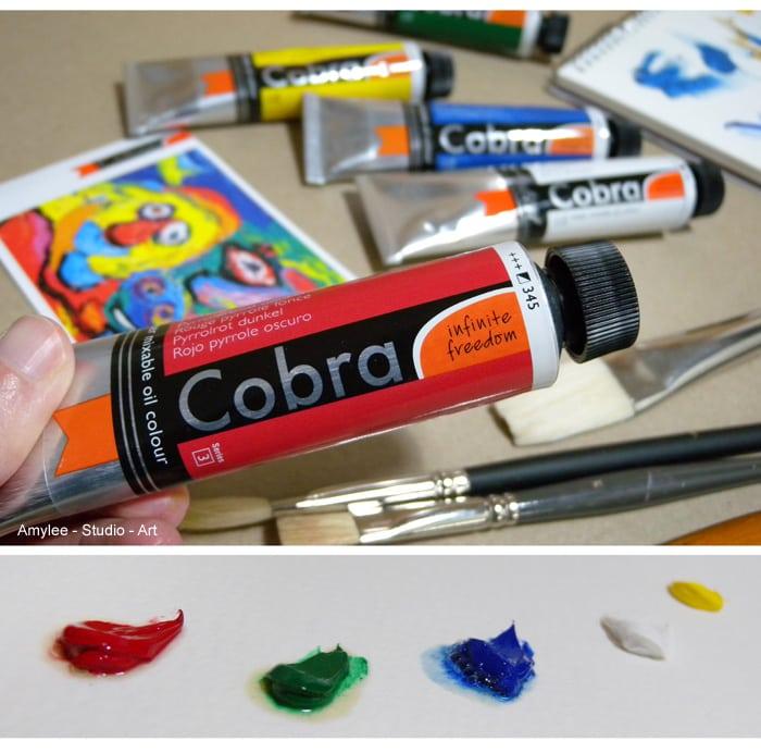 cobra, royal talens, peinture, huile, eau, diluable