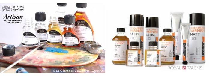 diluants peinture huile eau