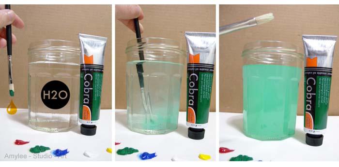 cobra peinture huile melange eau
