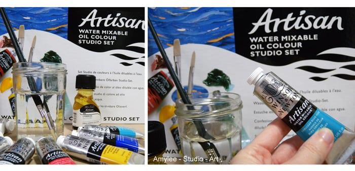 artisan peinture winsor newton huile eau