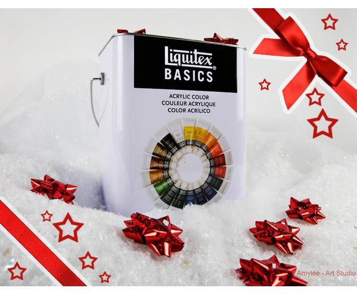 coffret metal liquitex basics couleurs