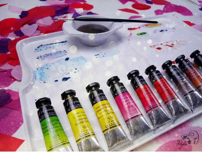 peinture aquarelle coffret noel cadeau