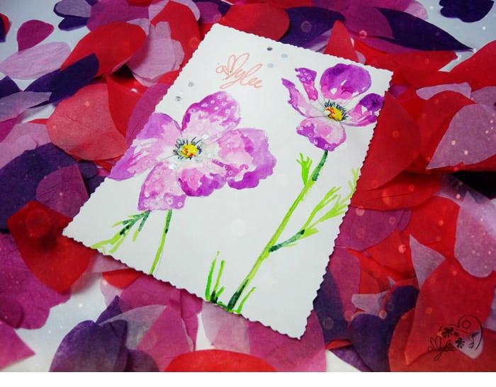 cartes de voeux artistes aquarelle