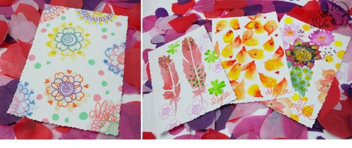 carte voeux maison couleurs artistes creatif diy