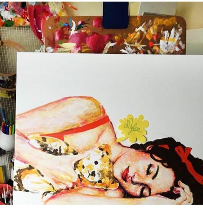 amylee blogger artiste peintre portrait