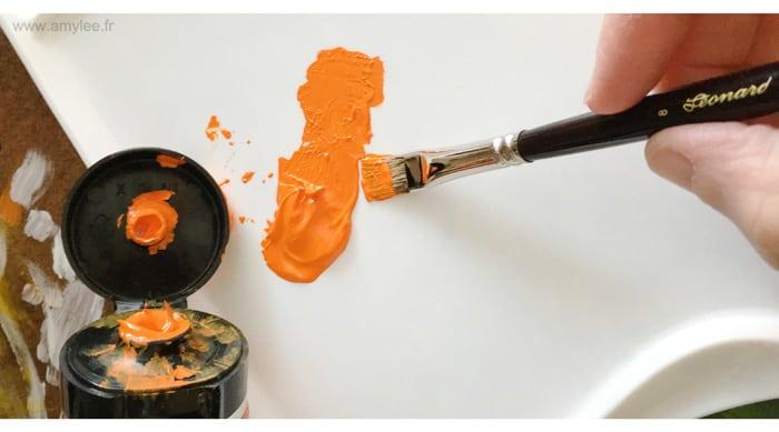 Pinceaux l onard amylee for Nettoyer pinceau peinture acrylique