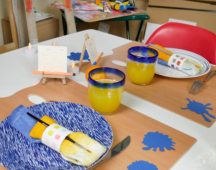 décoration table facile couleurs