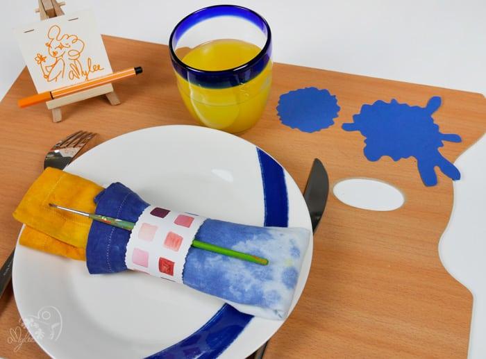 inspiration bleu jaune tableau