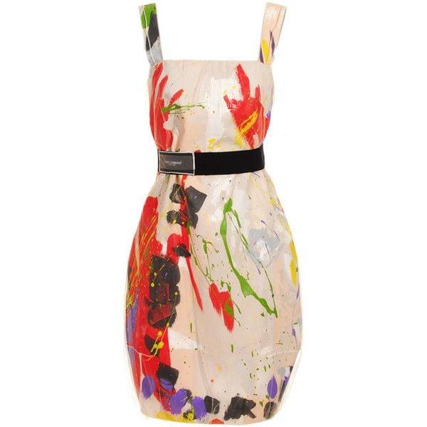 Dolce & Gabbana Hand painted short dress