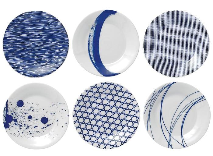 assiettes Royal Doulton bleu