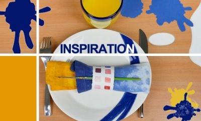 inspiration décoration table artiste