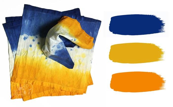 serviette teinture