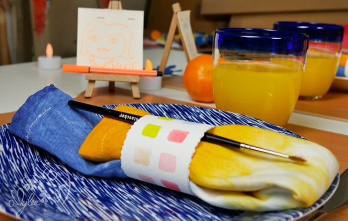 serviette-table aquarelle