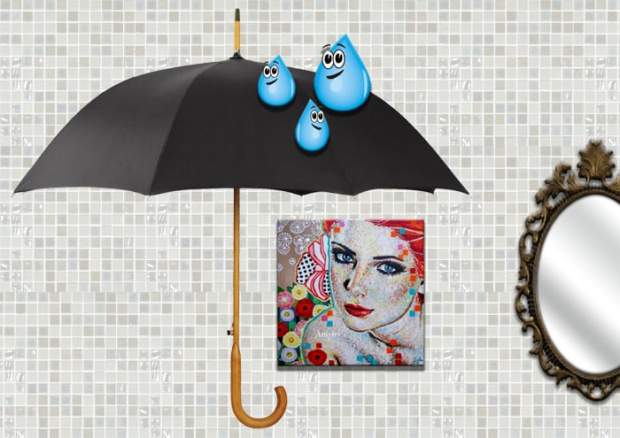 un tableau pour la salle de bain le magazine de l 39 artiste entrepreneur. Black Bedroom Furniture Sets. Home Design Ideas