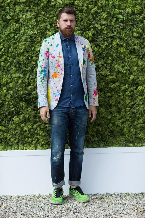 fashion homme arty splash peinture