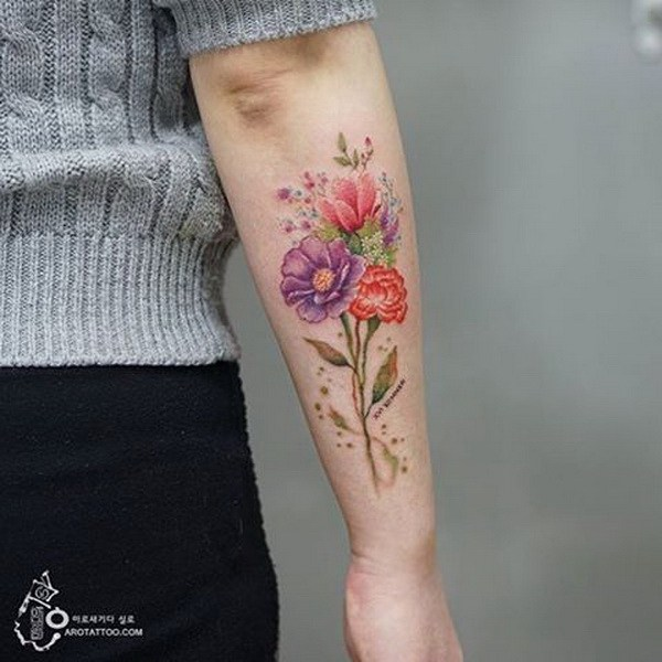 tatouage aquarelle