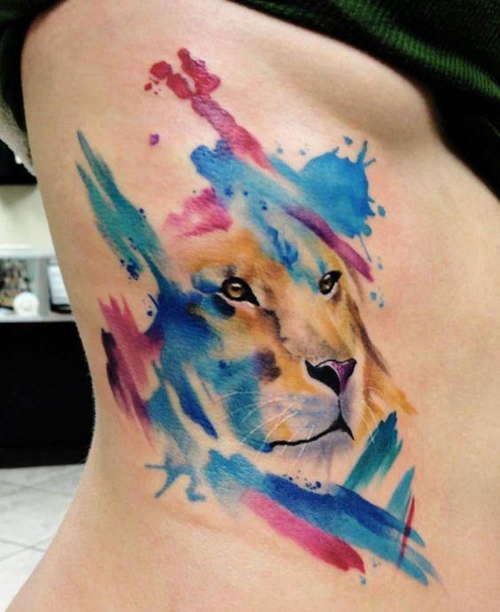 effet aquarelle tatouage