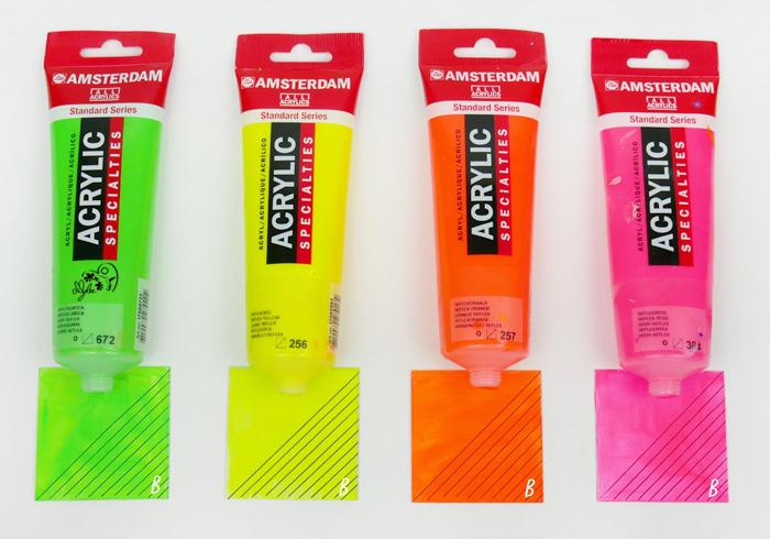 fluorescent colours paint