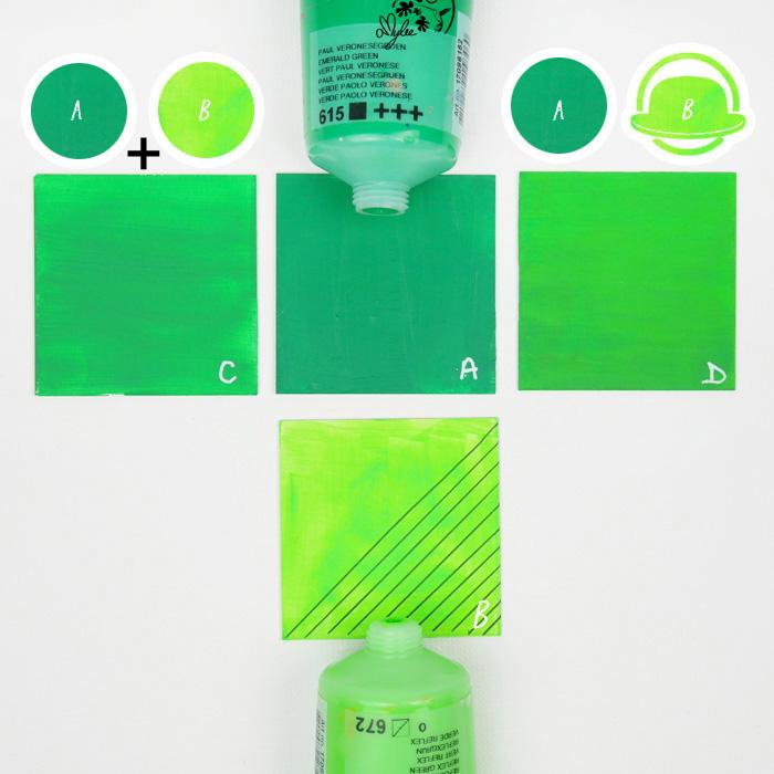 nuancier vert palette gamme couleurs