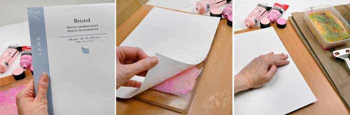 gelli print plate maison tutoriel art blog