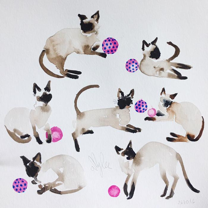 chat-aquarelle-peinture