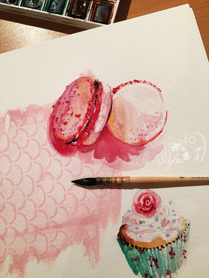 macarons-aquarelle