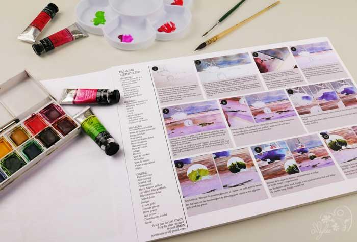 aquarelle bloc papier clairefontaine initiation feuille predessine creation facile