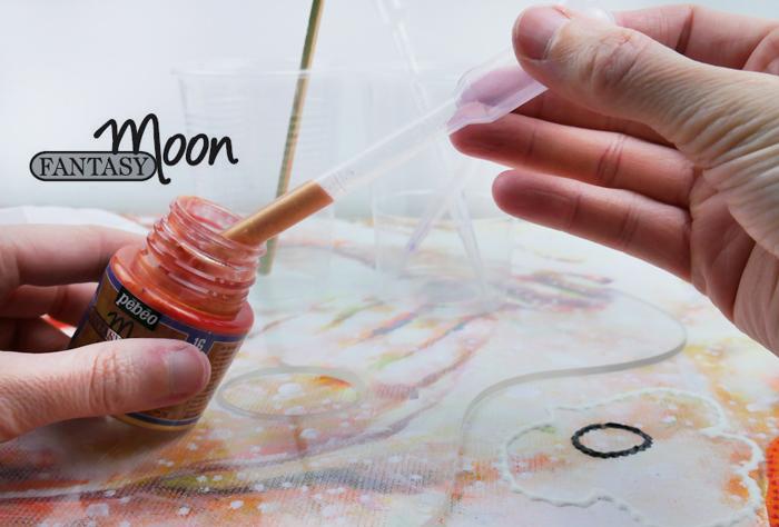 pébéo fantasy moon art peinture