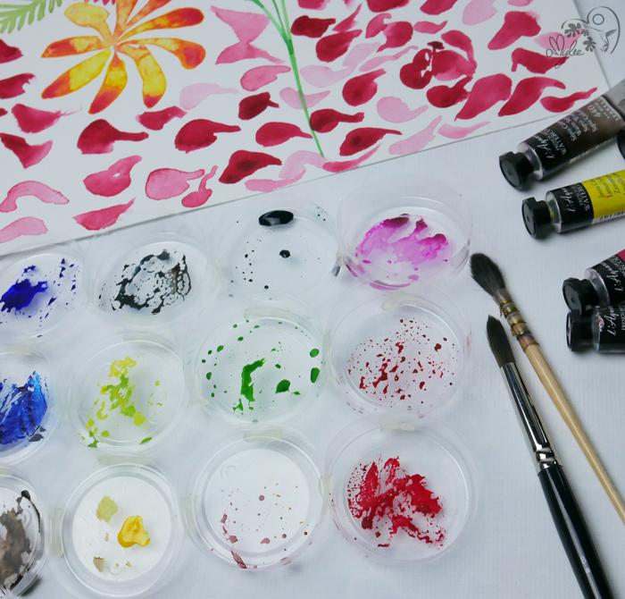 tutoriel fleur palette verre plastique facile réalisation