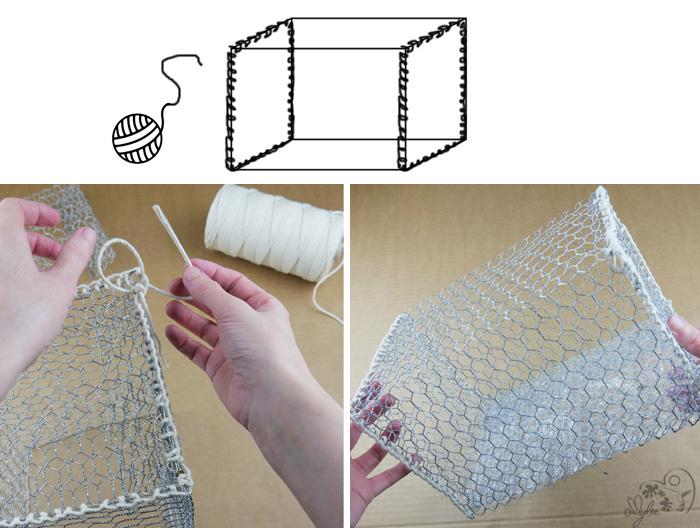 créer boite rangement avec treillis