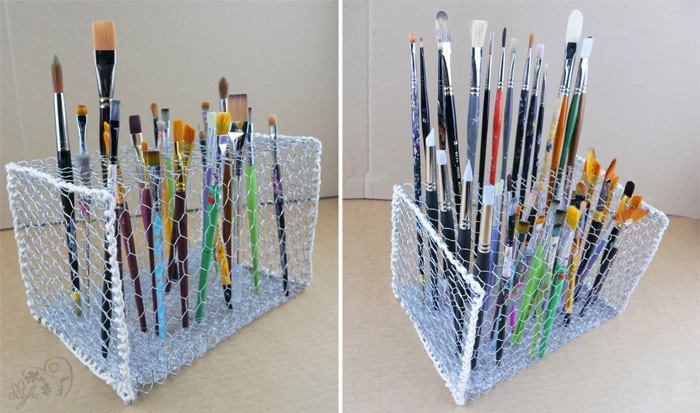paint brush holders art