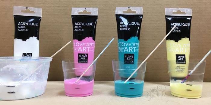 peinture fluide technique de l 39 acrylique pouring amylee. Black Bedroom Furniture Sets. Home Design Ideas