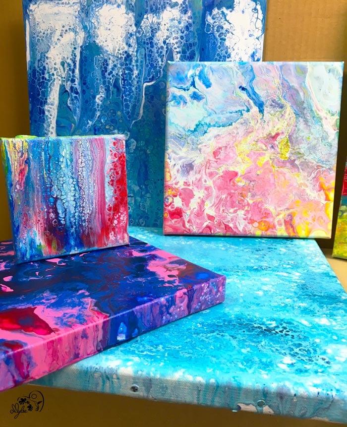 Peinture fluide: Technique de l'Acrylic Pouring | Amylee
