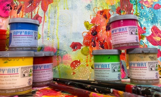 apy 39 art peinture acrylique en pot amylee. Black Bedroom Furniture Sets. Home Design Ideas