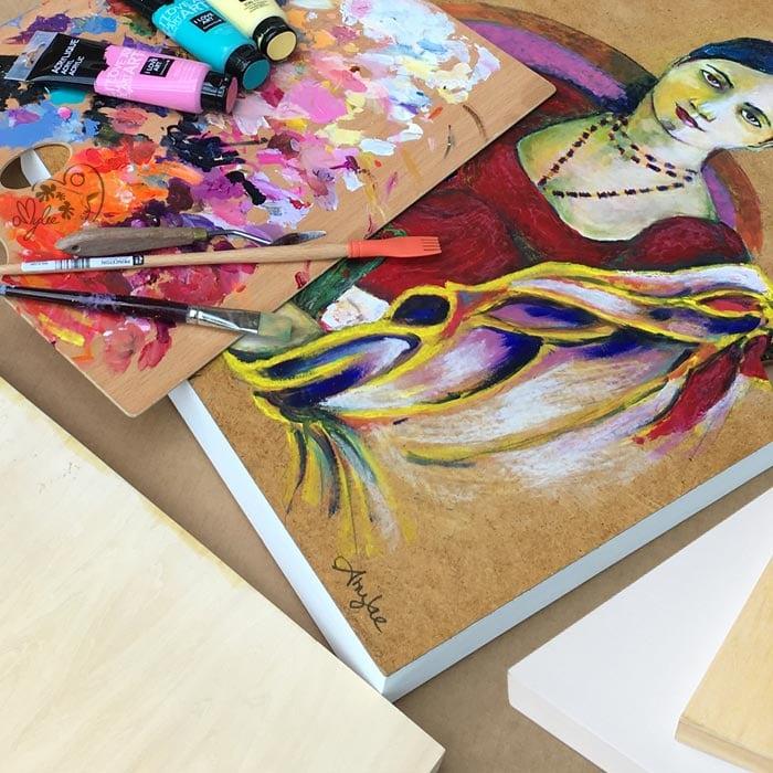 Peindre Sur Un Support En Bois | Amylee